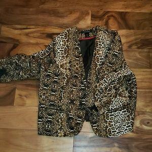 Ashley stewart cropped blazer jacket